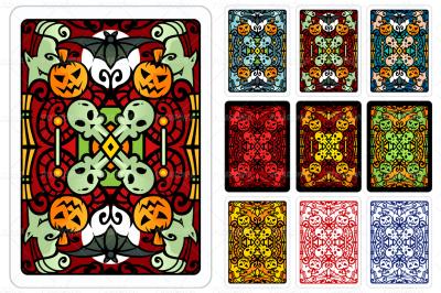 Halloween Playing Card Back Design