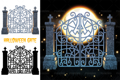 Halloween Gate 3D Render