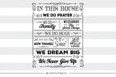 In this house quotes - SVG