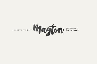 Mayton | Hand Written Brush Script