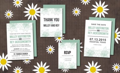 Wedding Invitation Suite Flower