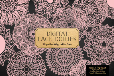 Soft Pink Vector Lace Doilies