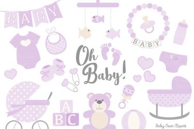 Lavender Vector Baby Items