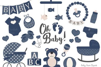 Navy Vector Baby Items