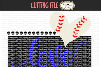 Love Baseball Heart