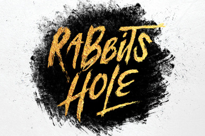 Rabbits Hole Brush Font + Bonus