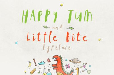 Happy Tum & Little Bite Font