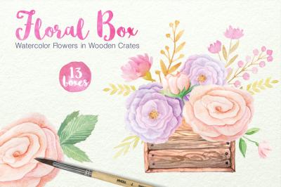 Watercolor Floral Box Set