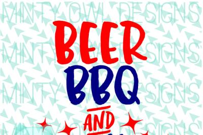 Beer BBQ & Sparklers SVG Cut File