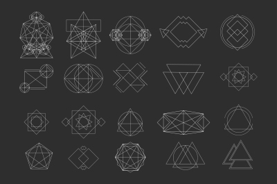 Vector geometric shapes signs