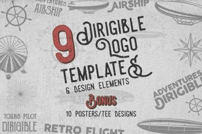 Dirigible Badges & Design Elements