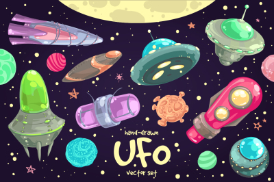 Cute UFO Set