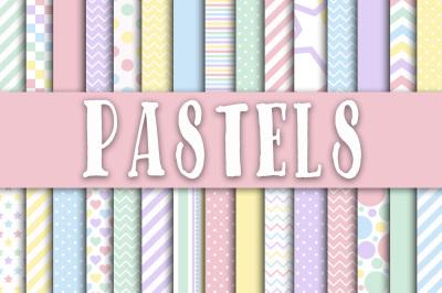Pastel Digital Papers