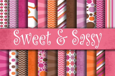 Sweet and Sassy Digital Paper Pack