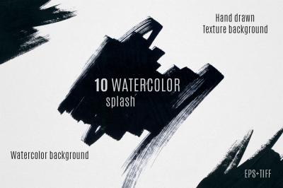 10 watercolor splash