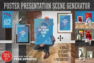 Poster Presentation Scene Generator