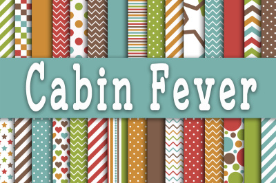 Cabin Fever Digital Papers