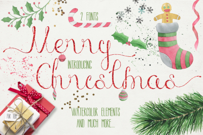 Merry Christmas [2 fonts]+ Free Goods
