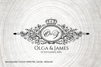 Vintage Wedding Monogram-Wedding Logo