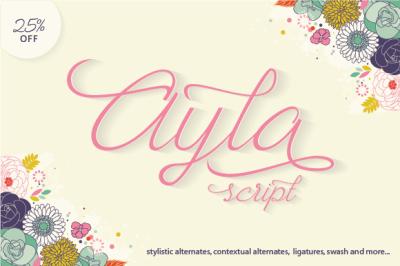 Ayla Script (25% Off)