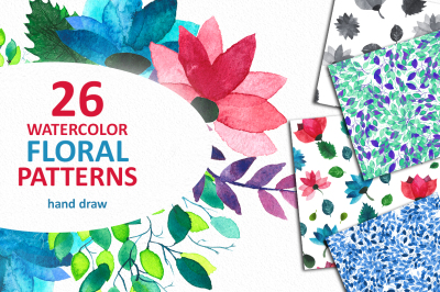 Summer Watercolor Pattern Collection