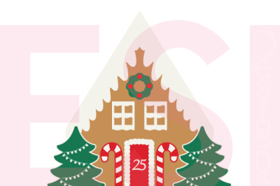 Gingerbread House - Christmas - SVG, DXF, EPS cutting files