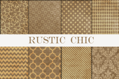 Rustic Chic Digital Papers Pack