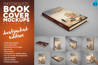 Book Cover Mockup Dustjacket Edition