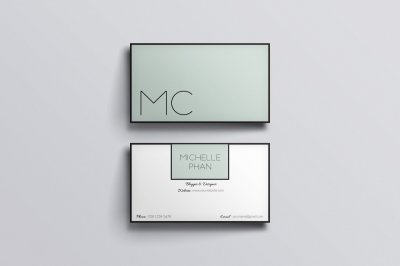 Modern , chic business card template