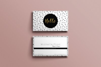 Modern, chic business card template