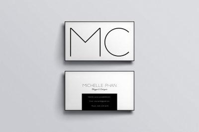 Modern business card (black & white )