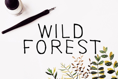 Wild Forest Calligraphy Font Download Modern Digital Typeface