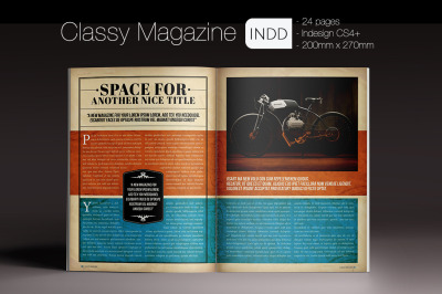 Classy Magazine Indesign Template
