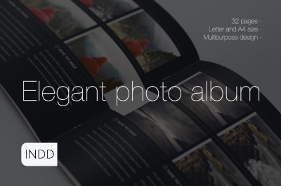 Elegant Photo Album Indesign Template