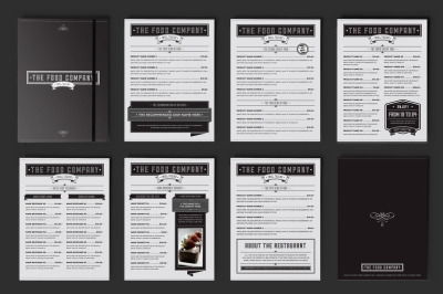Food Company Menu Illustrator Template