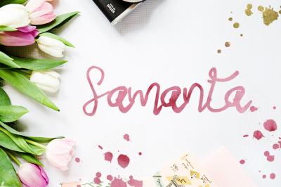 Samanta Script Font