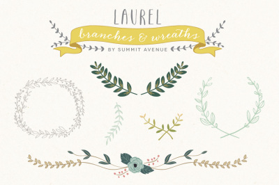 Vintage Laurel & Wreath designs
