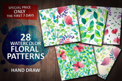 Watercolor Foral Patterns