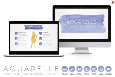 Aquarelle Powerpoint Template