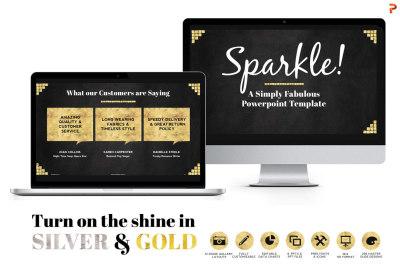 Sparkle Gold Foil PPT Templates