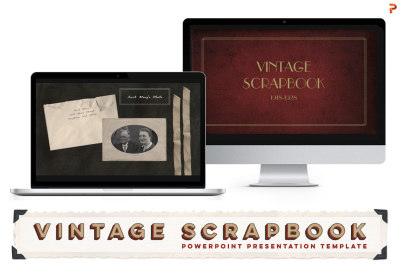 Vintage Scrapbook PPT Template