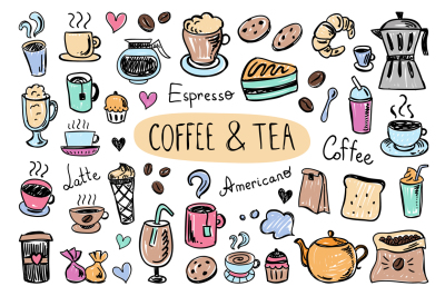 Coffee & Tea doodles