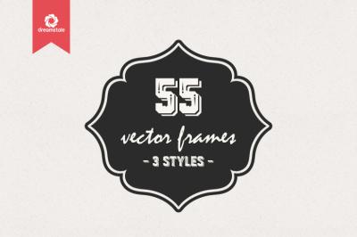 55 Vintage Vector Frames