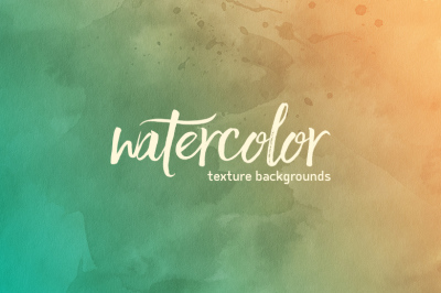 25 Watercolor Backgrounds