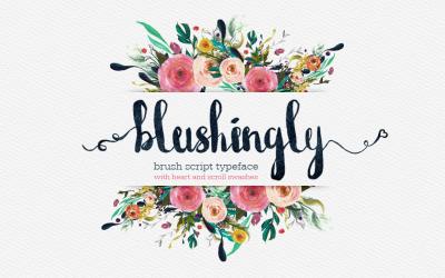 Blushingly Typeface Font