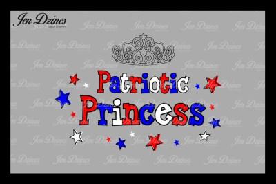 Patriotic Princess SVG DXF EPS PNG