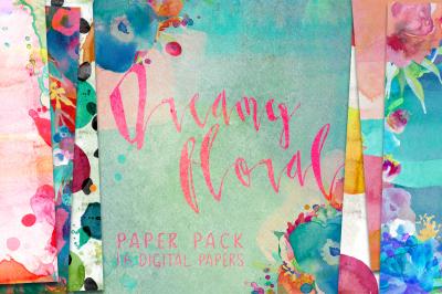 Floral Digital Paper Pack Patterns