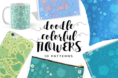 Doodle Colorful FLOWERS