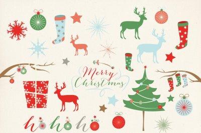Christmas Clipart Digital Clip Art, Vectors