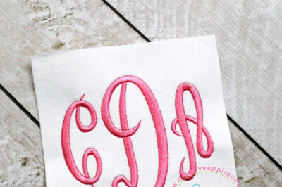 Empire Empress Monogram Embroidery Font